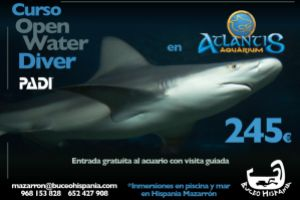 Curso Open Water Diver en Atlantis Aquarium MADRID 26  MAYO